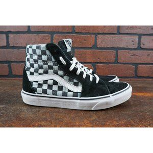 Vans SK8 Hi Checkerboard Mens Size 9 Sneakers Gray